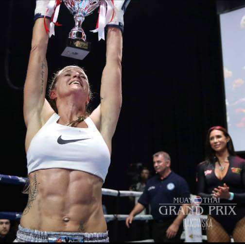 Local pride for our very own champion Kelly Haynes 'Health Dragon'